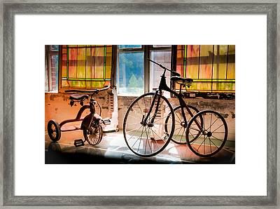 Feeling The Sounds Of Yesterday Framed Print by Karen Wiles