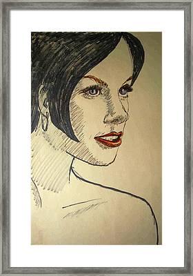 Felt Tip Female Framed Print by Brian Wallace