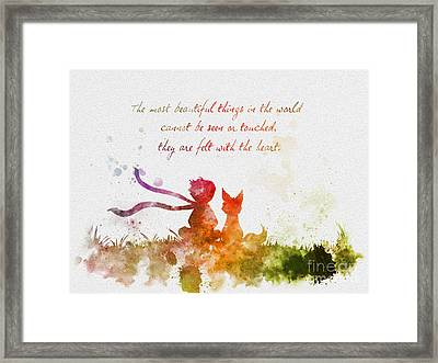 Felt With The Heart Framed Print by Rebecca Jenkins