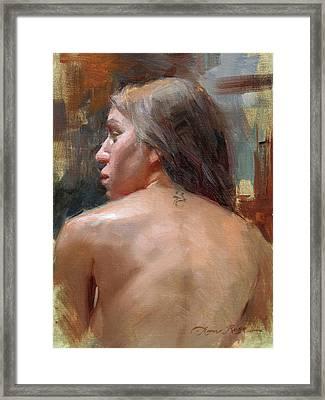 Female Back Study Framed Print by Anna Rose Bain