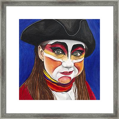 Female Carnival Pirate Framed Print by Patty Vicknair