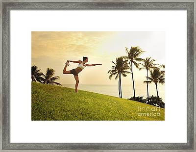 Female Doing Yoga Framed Print by Brandon Tabiolo - Printscapes