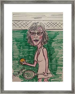 Female Tennis Player  Framed Print by Geraldine Myszenski