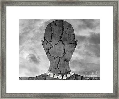 Feminine Figure With Moon Necklace Framed Print by Dave Gordon