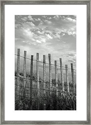 Fence At Jones Beach State Park. New York Framed Print by Gary Koutsoubis