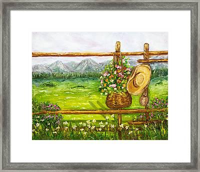 Fence Framed Print by Boyan Dimitrov
