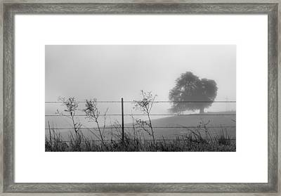 Fenced In Framed Print by Joseph Smith