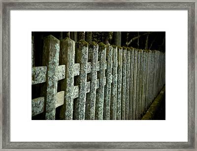 Fenced In Framed Print by Sebastian Musial
