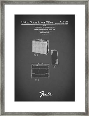 Fender Amp 1962 Framed Print by Mark Rogan
