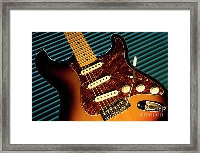 Fender Guitar Framed Print by Bob Christopher