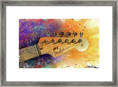 Fender Head Framed Print by Andrew King