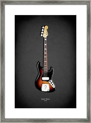 Fender Jazzbass 74 Framed Print by Mark Rogan