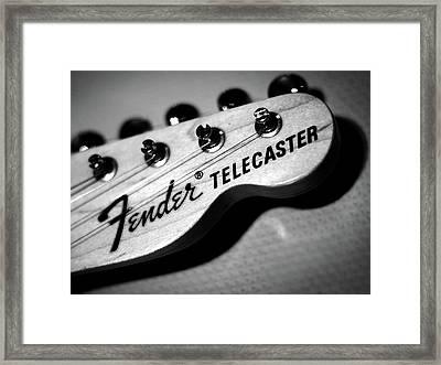 Fender Telecaster Framed Print by Mark Rogan