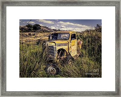 Fenders In The Rear Framed Print by Janice Rae Pariza