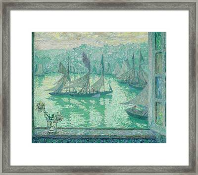 Fenetre Sur Le Port Honfleur Framed Print by MotionAge Designs