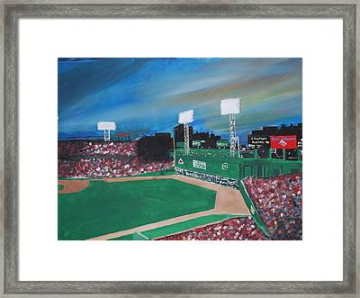 Fenway Night Framed Print by Leo Artist