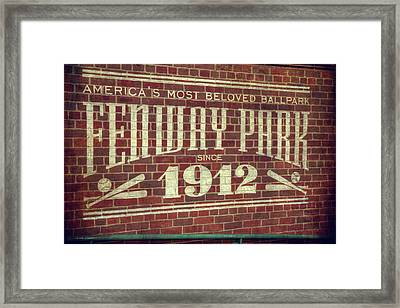Fenway Park 1912 - Boston Red Sox Framed Print by Joann Vitali