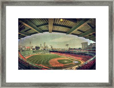 Fenway Park Ball Park - Boston Red Sox Framed Print by Joann Vitali