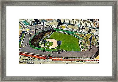 Fenway Park Baseball Stadium In Boston Ma In 1940 Framed Print by Dwight Goss