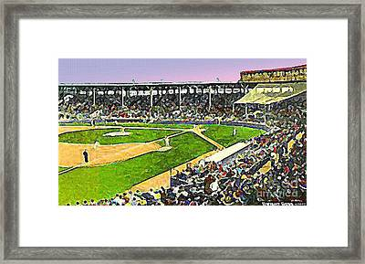 Fenway Park In Boston Ma In 1940 Framed Print by Dwight Goss