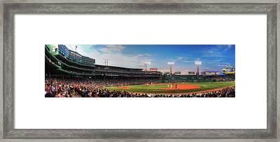 Fenway Park Panoramic - Boston Framed Print by Joann Vitali
