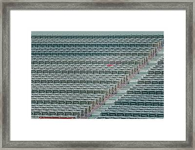 Fenway Park Red Chair Number 21 Framed Print by Susan Candelario