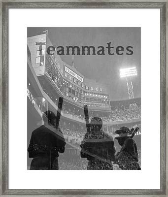 Fenway Park Teammates - Boston Framed Print by Joann Vitali
