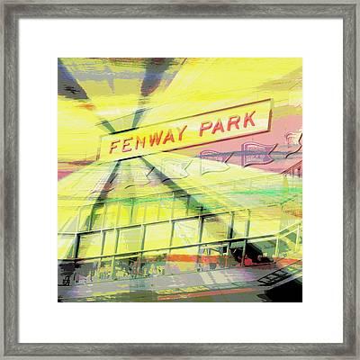 Fenway Park V2 Framed Print by Brandi Fitzgerald
