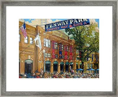 Fenway Summer Framed Print by Gregg Hinlicky