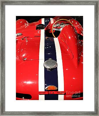 Ferarri Racing Stripes 7d1855-2 Framed Print by Home Decor