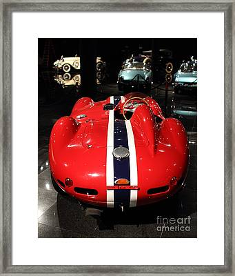 Ferarri Racing Stripes 7d1855 Framed Print by Home Decor