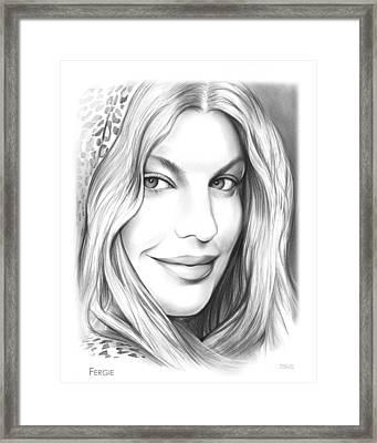 Fergie Framed Print by Greg Joens