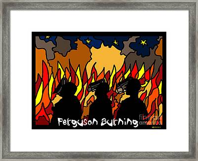 Ferguson Burning Iv Framed Print by MyChicC
