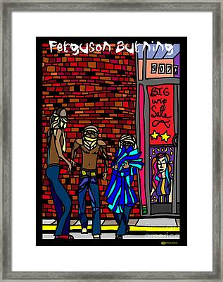 Ferguson Burning I Framed Print by MyChicC