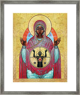 Ferguson Mother Of God. Framed Print by Mark Dukes
