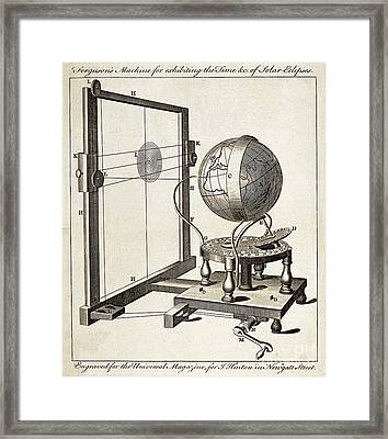 Fergusons Solar Eclipse Predictor, C Framed Print by Wellcome Images