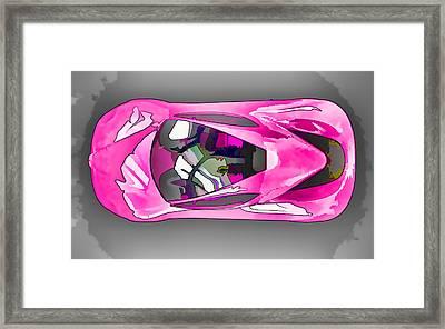Ferrari 11 Framed Print by Lanjee Chee