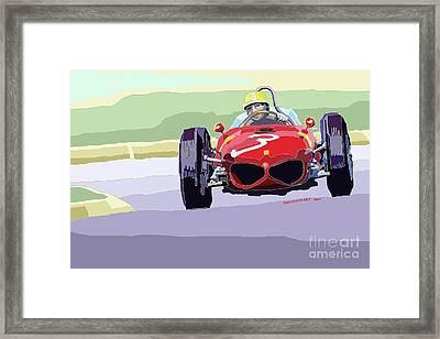 Ferrari 156 Dino 1962 Dutch Gp Framed Print by Yuriy  Shevchuk