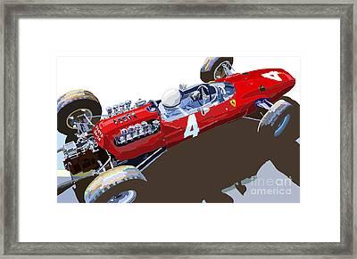 Ferrari 158 F1 1965 Dutch Gp Lorenzo Bondini Framed Print by Yuriy  Shevchuk