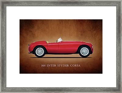 Ferrari 166 Inter Spyder Framed Print by Mark Rogan