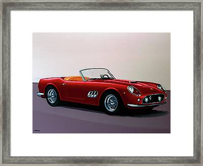 Ferrari 250 Gt California Spyder 1957 Painting Framed Print by Paul Meijering