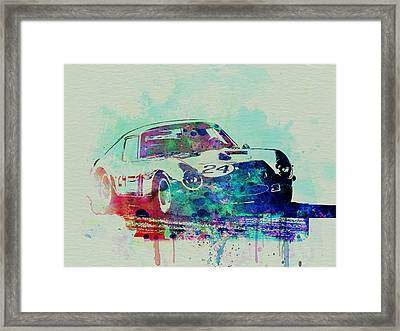 Ferrari 250 Gtb Racing Framed Print by Naxart Studio