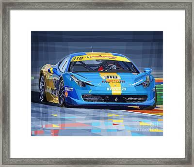 Ferrari 458 Challenge Team Ukraine 2012 Variant Framed Print by Yuriy Shevchuk