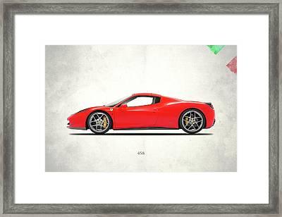 Ferrari 458 Italia Framed Print by Mark Rogan