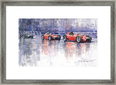 Ferrari D50 Monaco Gp 1956 Framed Print by Yuriy  Shevchuk