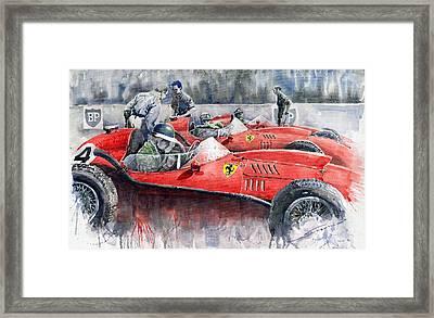Ferrari Dino 246 F1 1958 Mike Hawthorn French Gp  Framed Print by Yuriy  Shevchuk