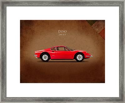 Ferrari Dino 246 Gt Framed Print by Mark Rogan