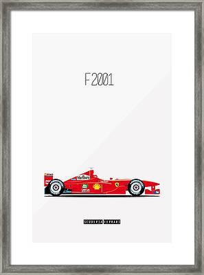 Ferrari F2001 F1 Poster Framed Print by Beautify My Walls