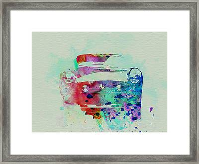 Ferrari Front Watercolor Framed Print by Naxart Studio
