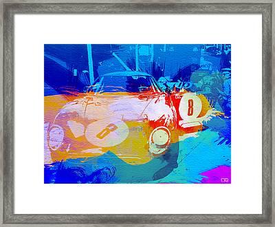 Ferrari Pit Stop Framed Print by Naxart Studio